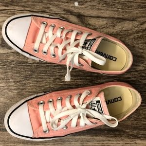 Converse all star pink low top